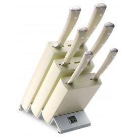 Bloc couteaux avec 6 pièces Classic Ikon blanc