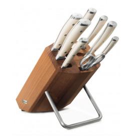 Bloc couteaux avec 8 pièces Classic Ikon blanc
